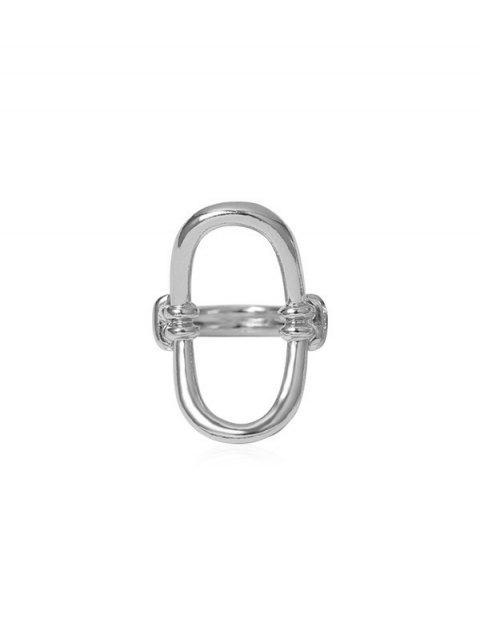 Ажурное Овальное Кольцо - Серебристый  Mobile