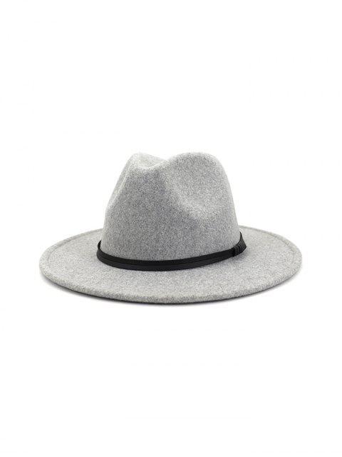 Одноцветная Шляпа Широкий край - Светло-серый  Mobile