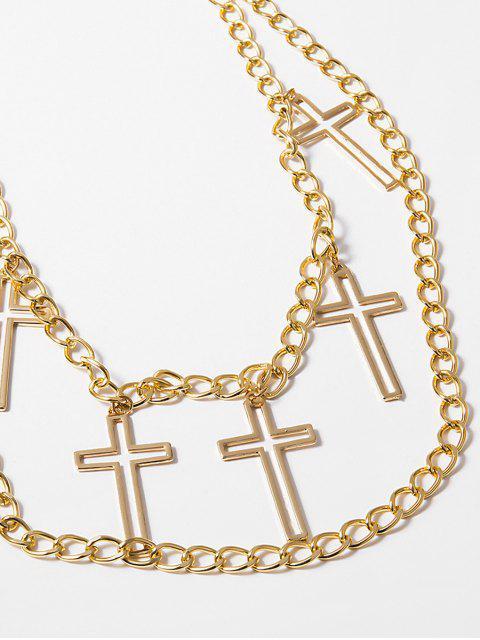 Ажурный крест Многослойная Цепь для талии - Золотой  Mobile