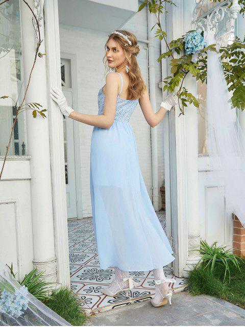 ZAFULVestido de Dama de Honra Chiffon de Renda - Azul de Céu Claro XL Mobile