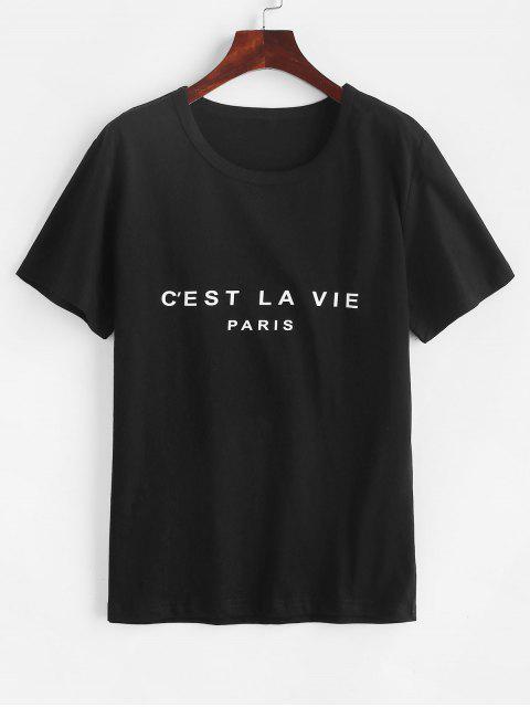 shops Short Sleeve Graphic Basic Tee - BLACK XL Mobile