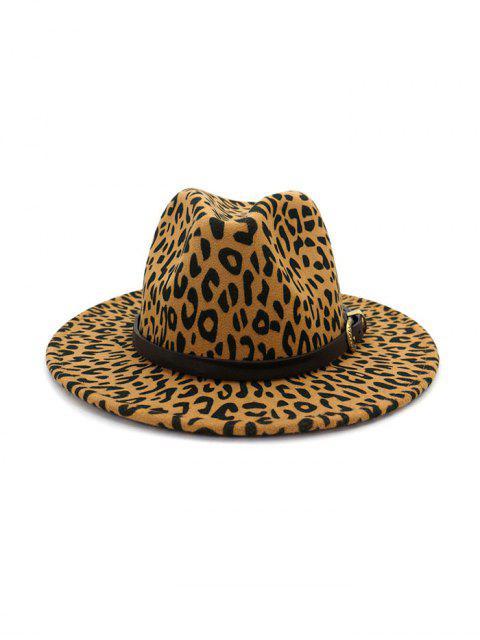 Ретро Леопардовый принт Шляпа - Светлый хаки  Mobile