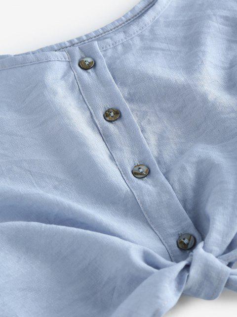 Set Top Corto Sin Mangas y Shorts - Azul claro S Mobile