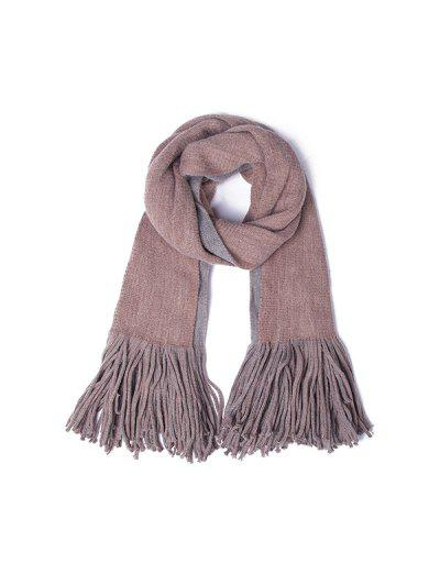 Reversible Fringed Long Scarf