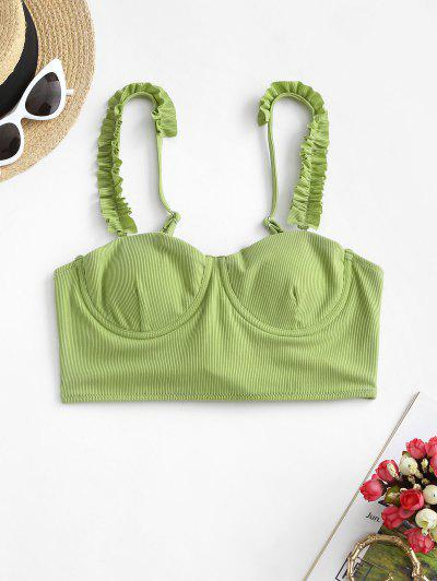 Bikini A Costine A Balze Con Ferretto Di ZAFUL - Verde Chiaro L