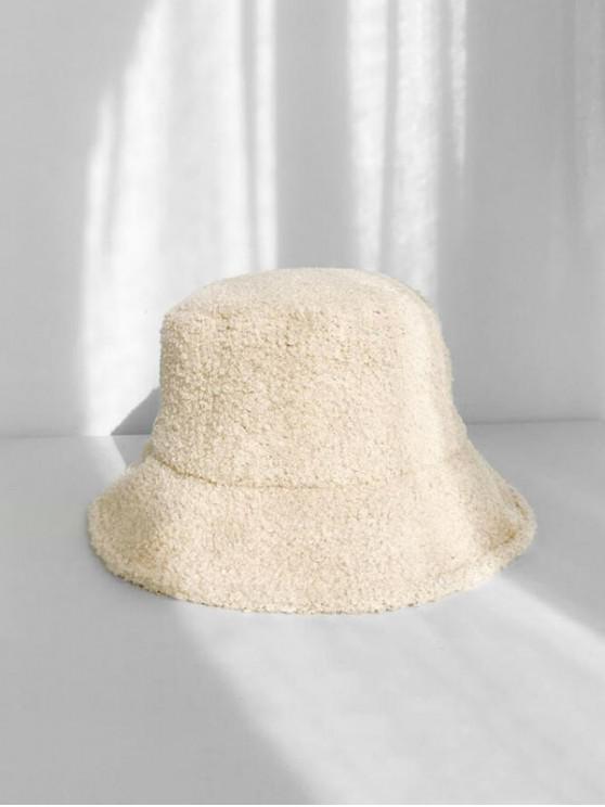 شتاء الصوف قبعة دلو - اللون البيج