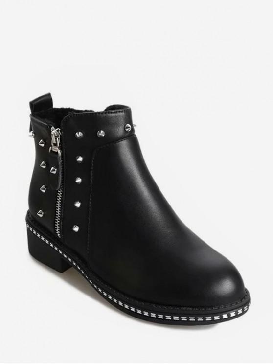 الجانب البريدي ينصب الصوف شقة أحذية - أسود الاتحاد الأوروبي 40