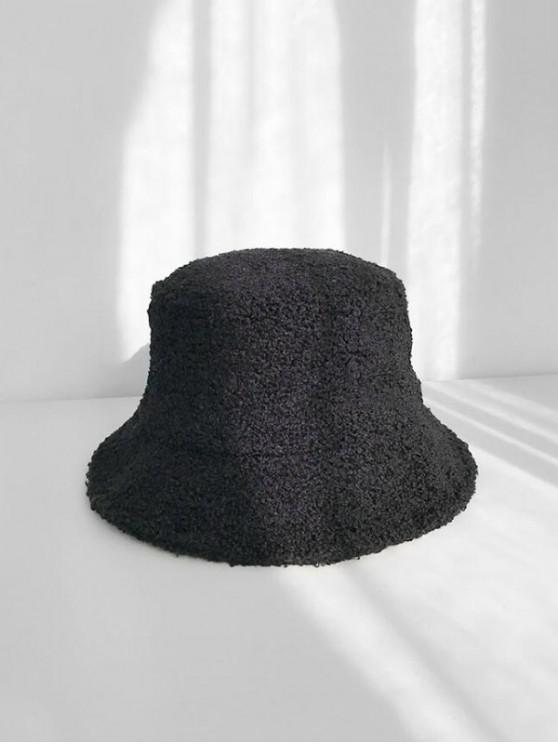 شتاء الصوف قبعة دلو - أسود