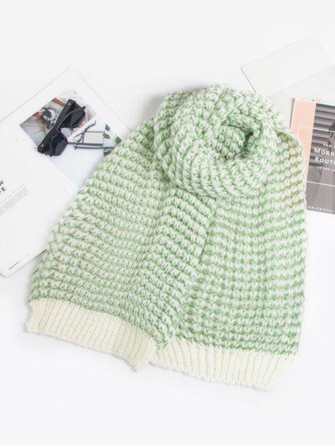 Смешанный цвет Трикотажный Шарф - Светло-зеленый  Mobile