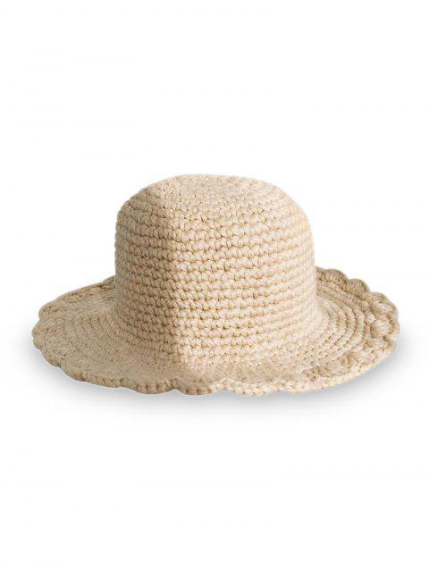 Одноцветная Шляпа Вязание - Бежевый  Mobile