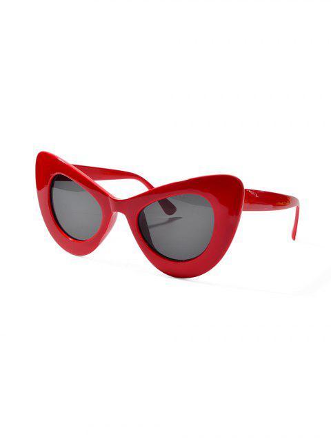 Солнцезащитные Очки Широкая оправа Катти глаз - Лава-красный  Mobile