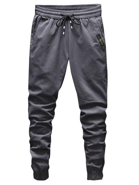抽繩固體抽繩短褲慢跑者 - 碳灰色 XS Mobile