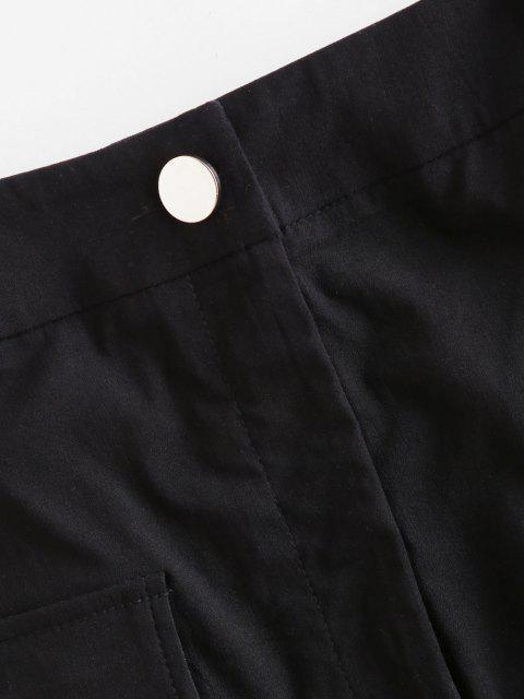 affordable ZAFUL Pocket Zip Fly Mini Cargo Skirt - BLACK S Mobile