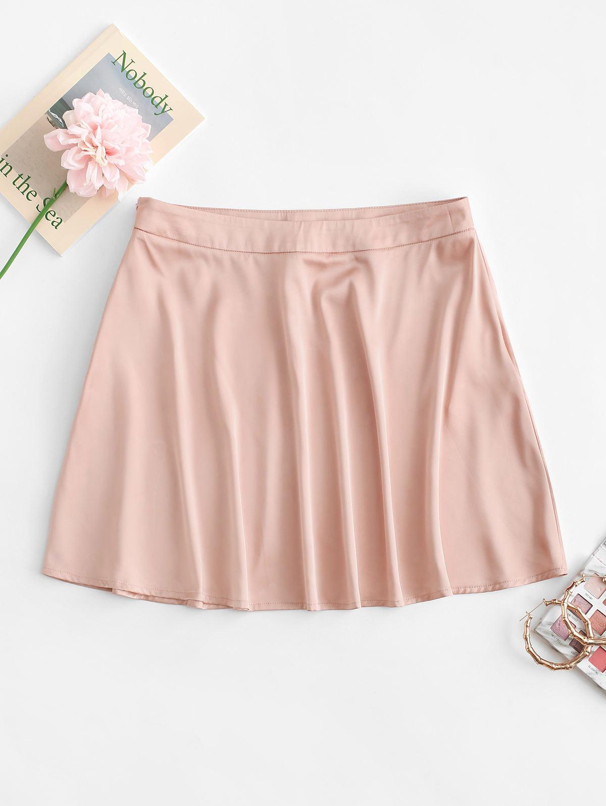 ZAFUL Satin Mini A Line Skirt