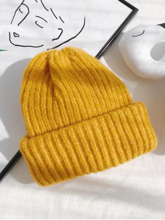 الصلبة الجديل القبعة - الأصفر