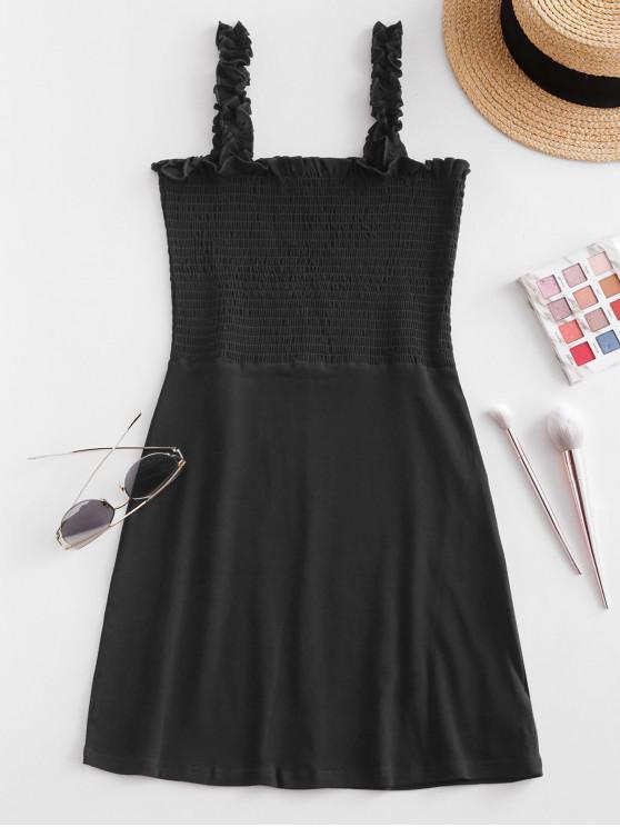 Со сборками С оборкой Мини-Платье - Чёрный M