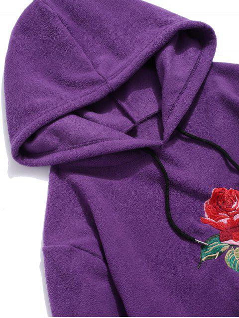 玫瑰刺繡信連帽衫 - 紫色 S Mobile