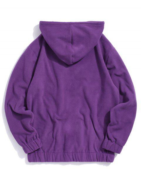 new Rose Letter Embroidered Hoodie - PURPLE L Mobile
