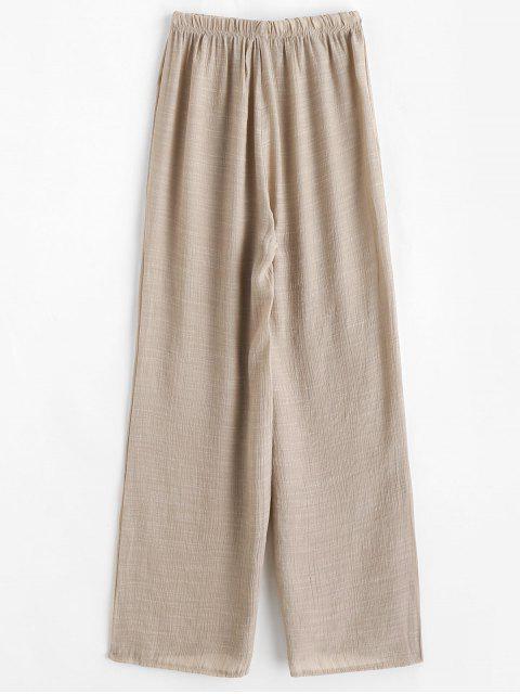 womens Semi Sheer Beach Pants - LIGHT KHAKI ONE SIZE Mobile