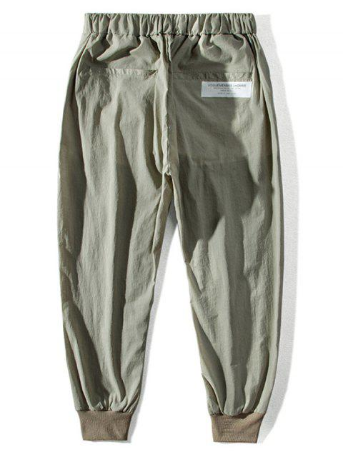 trendy Letter Pattern Drawstring Jogger Pants - CAMOUFLAGE GREEN S Mobile