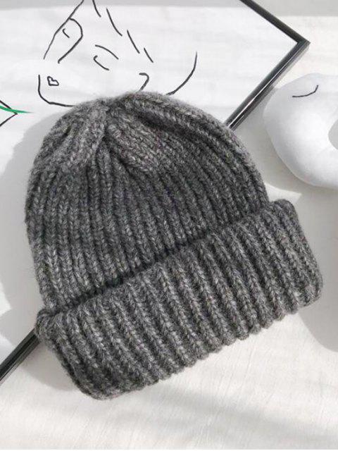 Одноцветная Вязаная Шляпа - Темно-серый  Mobile