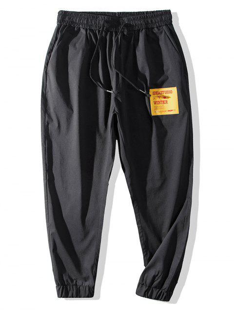 online Casual Graphic Pattern Jogger Pants - BLACK M Mobile