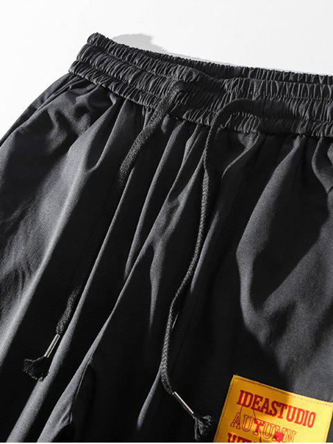 sale Casual Graphic Pattern Jogger Pants - BLACK L Mobile