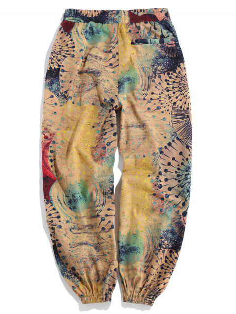 womens Novelty Painting Printed Casual Pants - MULTI S Mobile