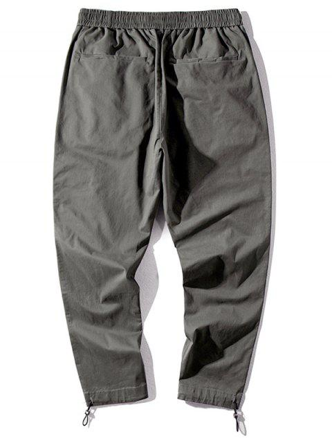 outfits Letter Chinese Print Casual Pants - ARMY GREEN 3XL Mobile