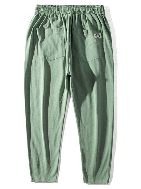 中國模式鬆緊腰圍休閒褲 - 淺綠色 M Mobile
