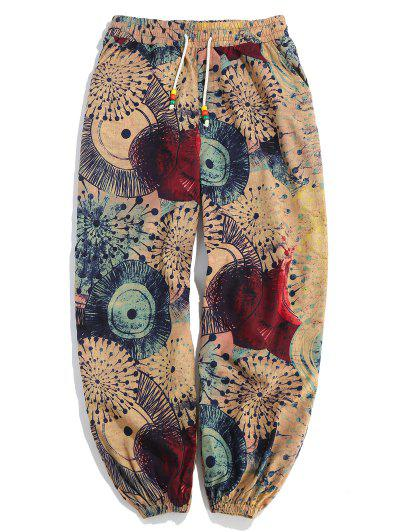 Novelty Painting Printed Casual Pants - Multi M