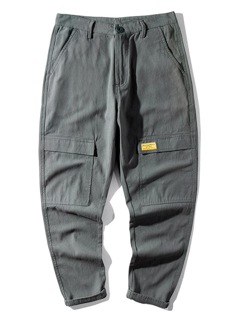 Casual Letter Pattern Pocket Decorated Pants фото