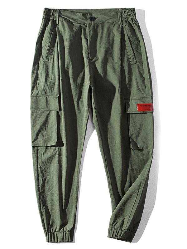 Letter Pattern Pocket Casual Pants фото