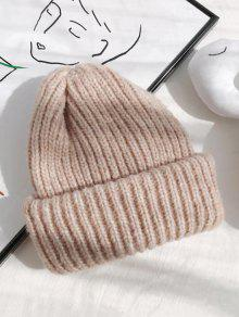 Solid Turn Up Edge Knitted Hat