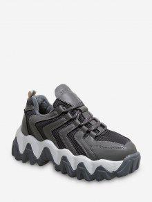 متعرج تنفس مكتنزة في الهواء الطلق حذاء رياضة - رمادي الاتحاد الأوروبي 42