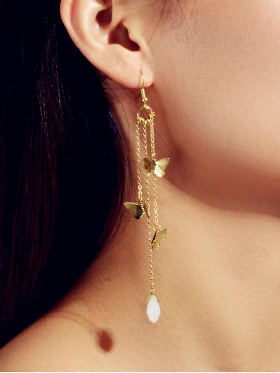 online Butterfly Fringe Dangle Earrings - GOLD