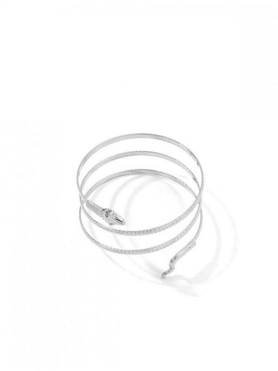 latest Minimalist Snake Wrap Bracelet - SILVER