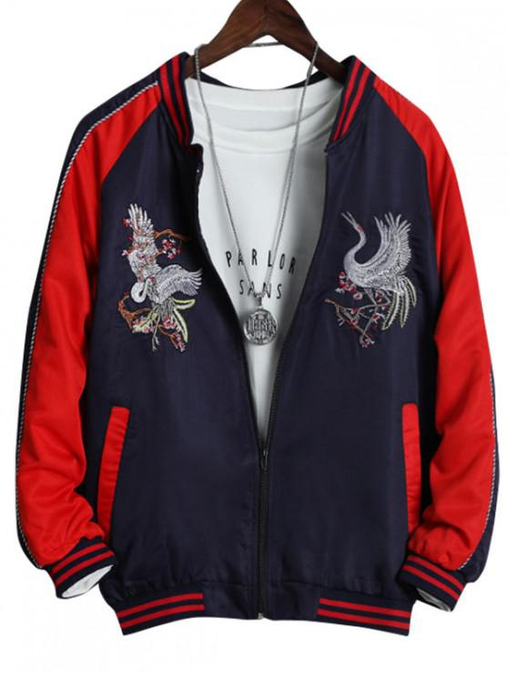 fancy Chinese Style Embroidered Design Jacket - RED XS