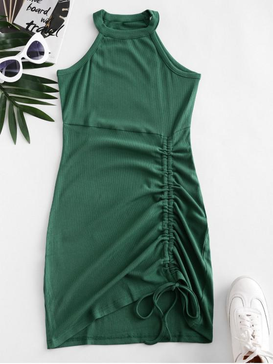buy Cutaway Cinched Knitted Mini Dress - SEA TURTLE GREEN S