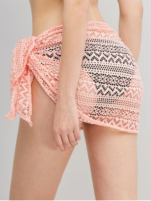 online Bobble Trim Lace Sarong - PINK ONE SIZE Mobile