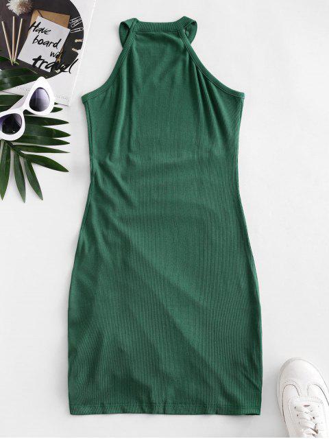 Mini Vestido Jersey Cuello Redondo - Verde de Tortuga Marina S Mobile