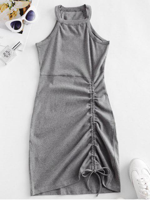 Mini Vestido Jersey Cuello Redondo - Nube Gris M Mobile