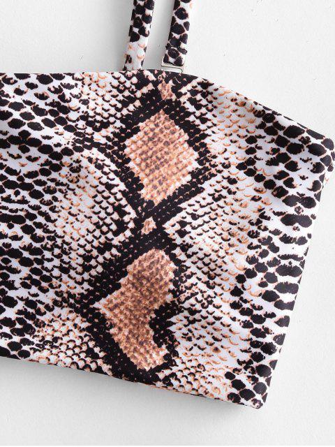 Bikini Bandeau con Estampado de Serpiente de ZAFUL - Multicolor-B M Mobile