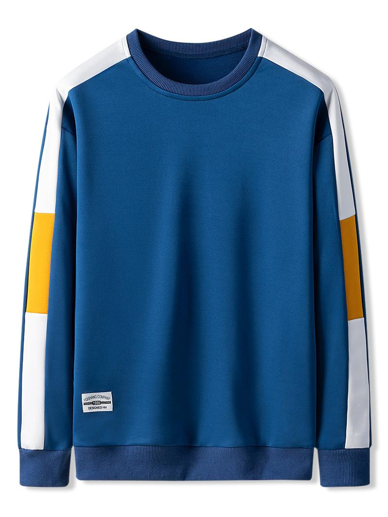 Contrast Color Spliced Casual Sweatshirt фото