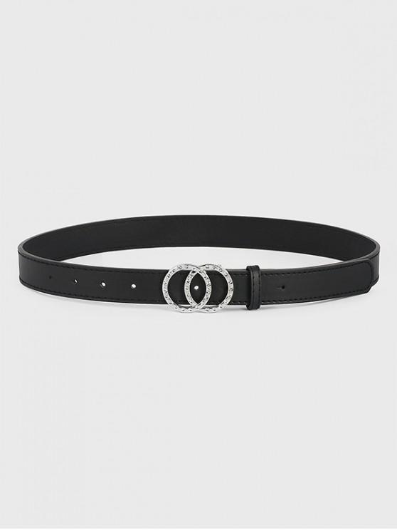 Cinturón Doble Círculo Brillantes - Negro