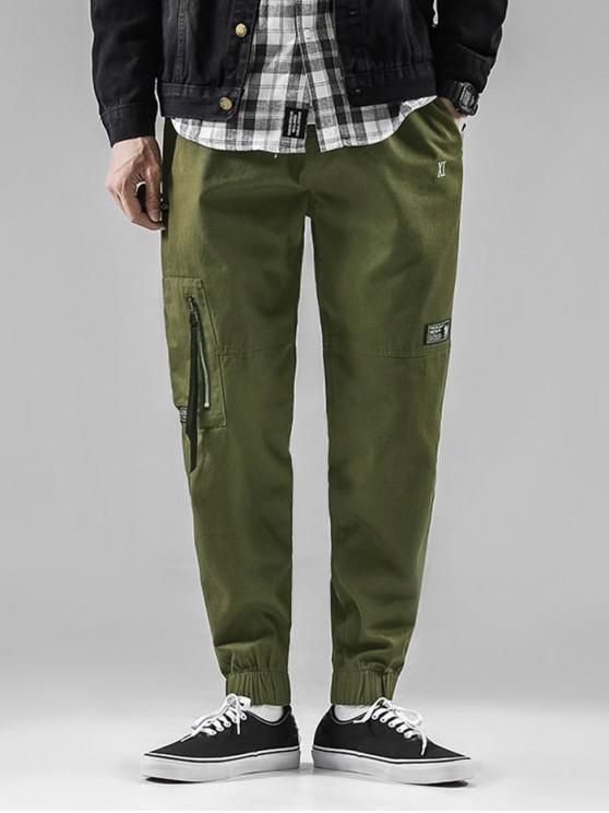 online Graphic Pattern Drawstring Casual Jogger Pants - ARMY GREEN S