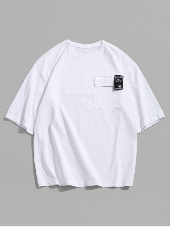 shops Letter Character Print Casual T-shirt - WHITE M