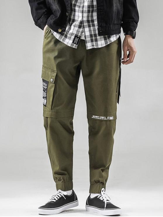 latest Casual Graphic Pattern Drawstring Jogger Pants - ARMY GREEN S