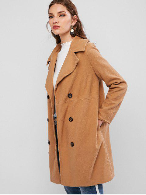 Manteau Long avec Poche - Marron Camel M Mobile