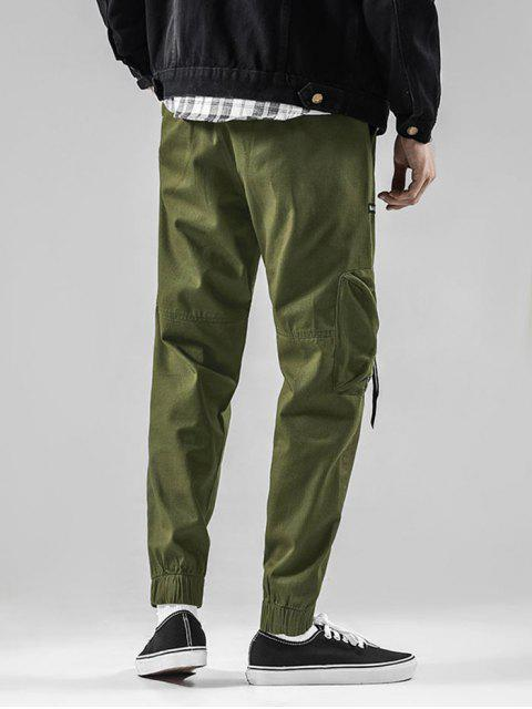 lady Graphic Pattern Drawstring Casual Jogger Pants - ARMY GREEN XS Mobile